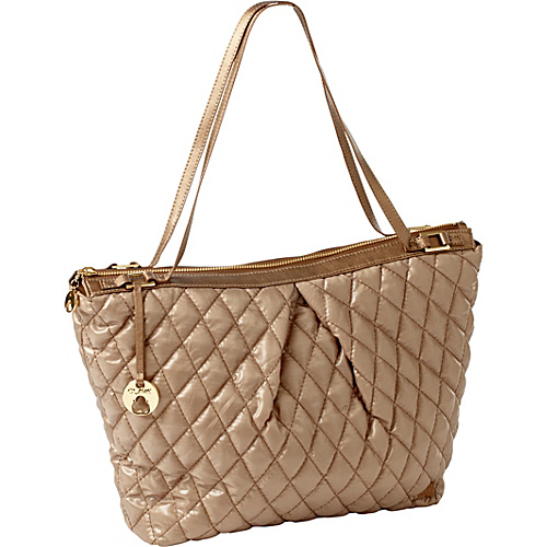 Clava Three Quilted Everyday Tote Gold Quilted Nylon - Clava Fabric Handbags