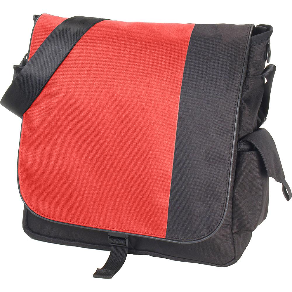 DadGear Sport Diaper Messenger Bag 2 Tone Red - DadGear Diaper Bags & Accessories