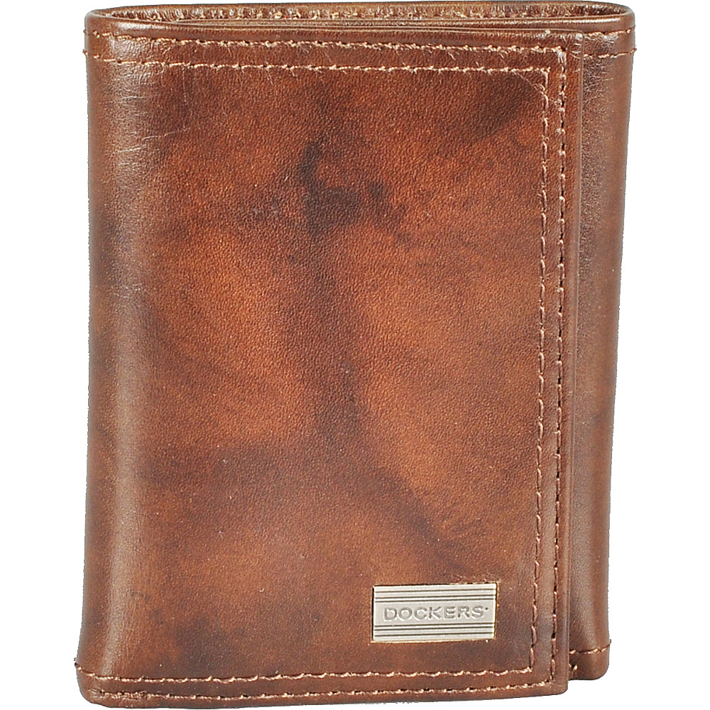 Dockers Extra Capacity Trifold Brown - Dockers Men's Wallets