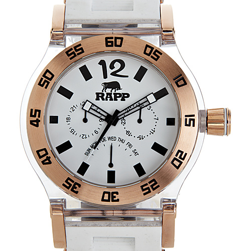 RAPP Watches Pink Naples Multi-Function Watch Rose Gold White - RAPP Watches Watches