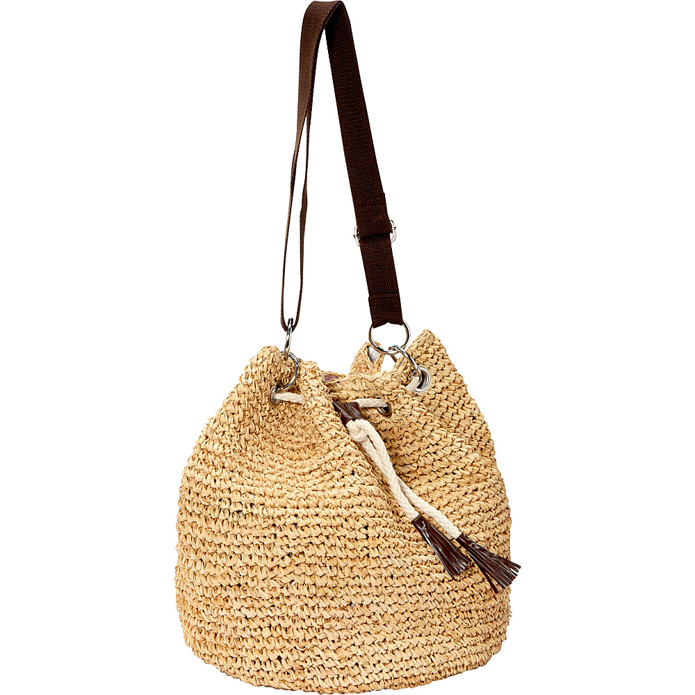 Betmar New York Raffia Shoulder Bag Natural Betmar New York Straw Handbags