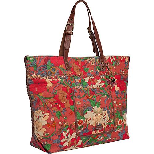 Sakroots Artist Circle Travel Bag Orange Flower Power - Sakroots Lightweight packable expandable bags
