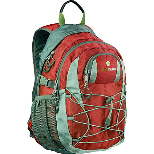 Lucky Bums Kids Switchback II Red - Lucky Bums School & Day Hiking Backpacks