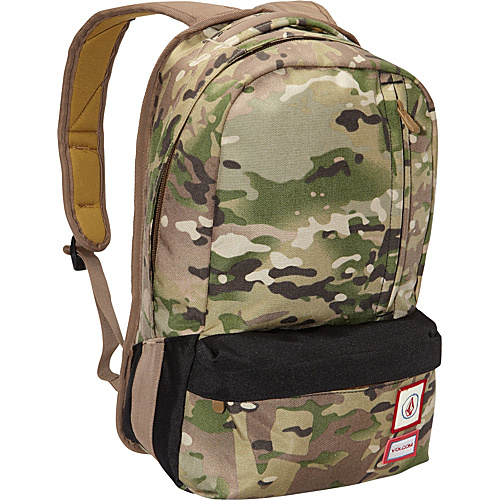Volcom Basis Camo Backpack Camouflage - Volcom School & Day Hiking Backpacks