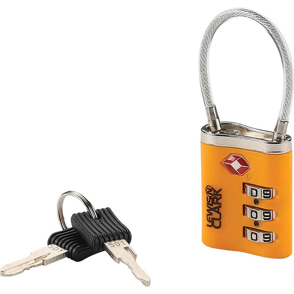 Lewis N. Clark TSA 3 Dial Combo Lock With Keys Orange Lewis N. Clark Luggage Accessories