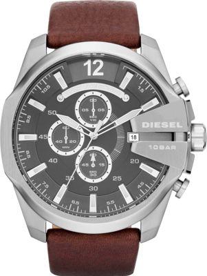 Diesel Watches Mega Chief Brown/Silver - Diesel Watches Watches