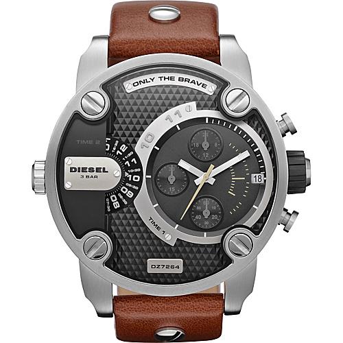 Diesel Watches Little Daddy Brown/ Silver/ Black - Diesel Watches Watches