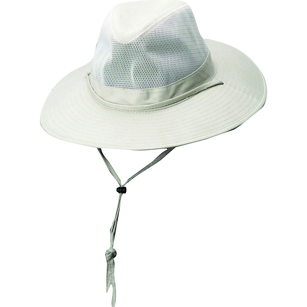 Dorfman Pacific Dorfman Mens Safari Spf4 Hat Medium Oatmeal