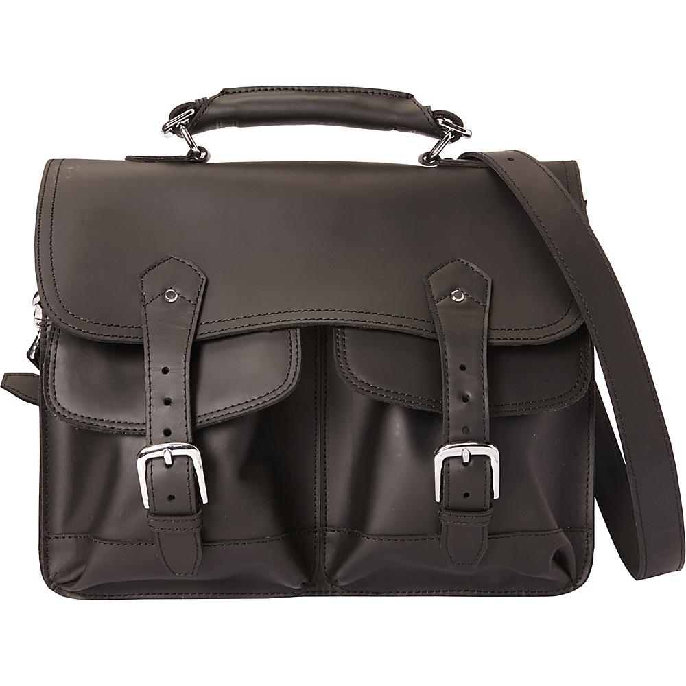 Vagabond Traveler 16.5 Leather Laptop Briefcase Black - Vagabond Traveler Non-Wheeled Business Cases - Work Bags & Briefcases, Non-Wheeled Business Cases