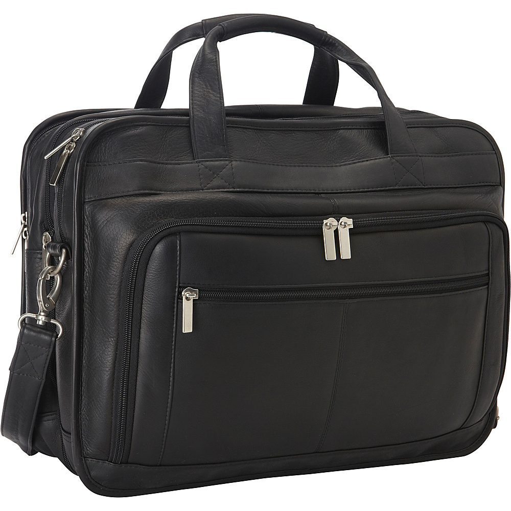 Le Donne Leather Oversized Laptop Brief Black - Le Donne Leather Non-Wheeled Business Cases - Work Bags & Briefcases, Non-Wheeled Business Cases