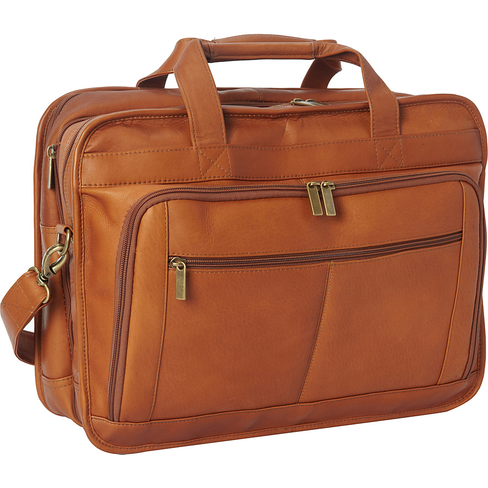 Le Donne Leather Oversized Laptop Brief Tan - Le Donne Leather Non-Wheeled Business Cases - Work Bags & Briefcases, Non-Wheeled Business Cases