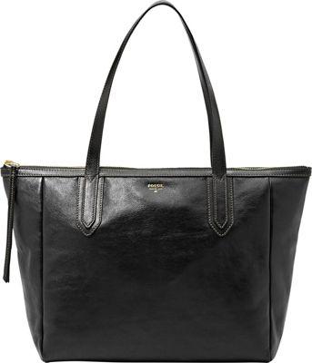 Fossil Sydney Shopper Black - Fossil Leather Handbags