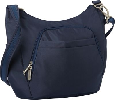 Travelon Anti Theft Classic Crossbody Bucket Bag Cross