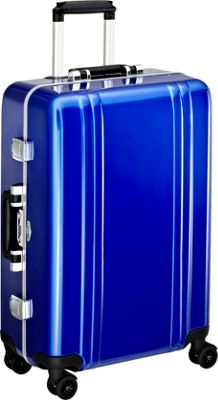Zero Halliburton Classic Polycarbonate 24 inch 4 Wheel Spinner Travel Case Blue - Zero Halliburton Hardside Checked