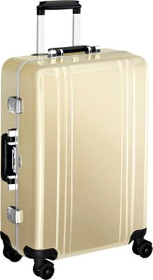 Zero Halliburton Classic Polycarbonate 24 inch 4 Wheel Spinner Travel Case Polished Gold