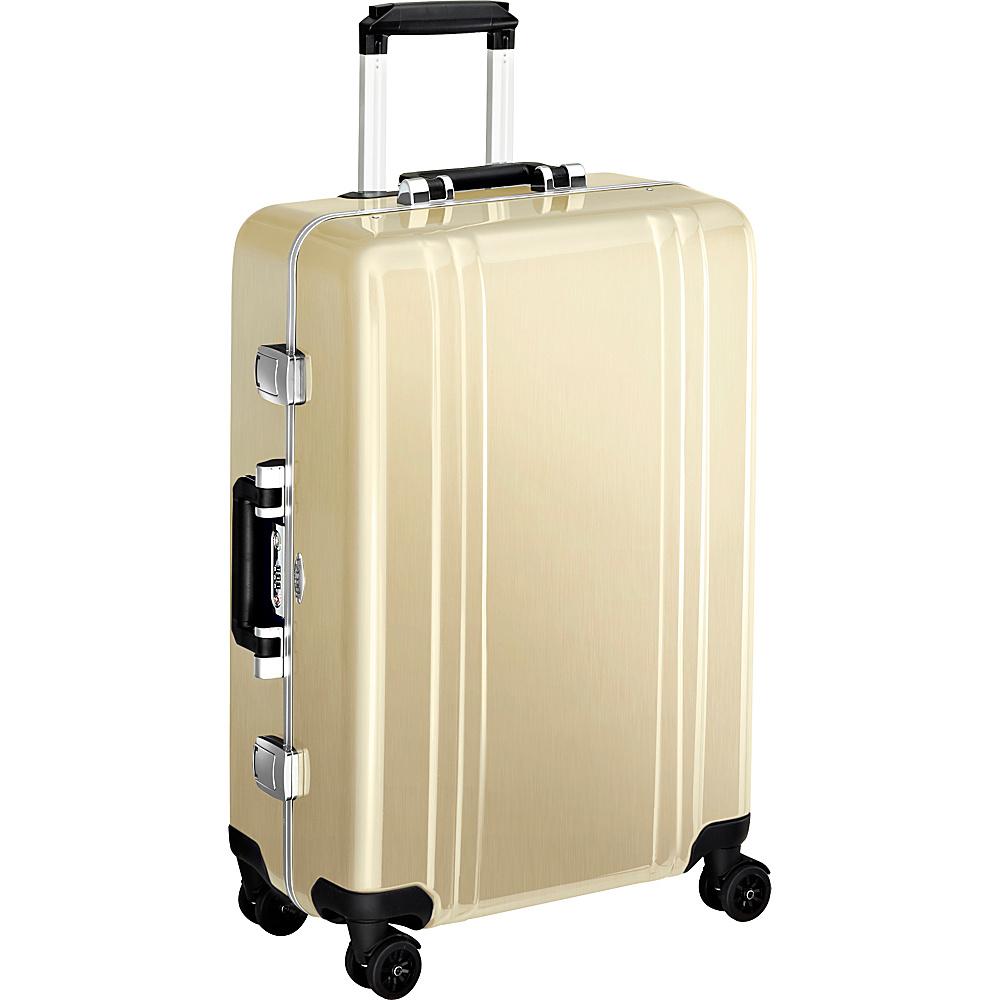 Zero Halliburton Classic Polycarbonate 24 4 Wheel Spinner Travel Case Polished Gold PG Zero Halliburton Hardside Checked