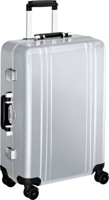 Zero Halliburton Classic Polycarbonate 24 inch 4 Wheel Spinner Travel Case Silver - Zero Halliburton Hardside Checked