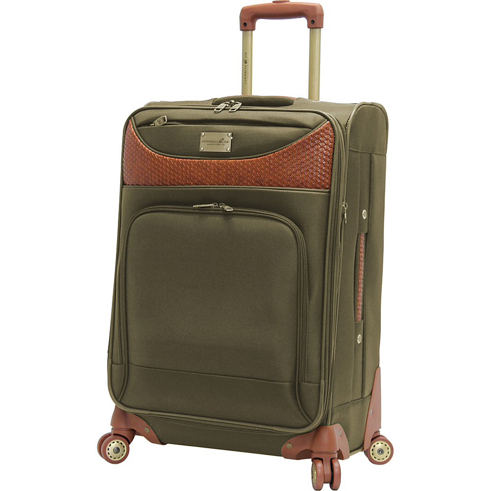 "Caribbean Joe Castaway 24"" Exp. Spinner Olive - Caribbean Joe Softside Checked"