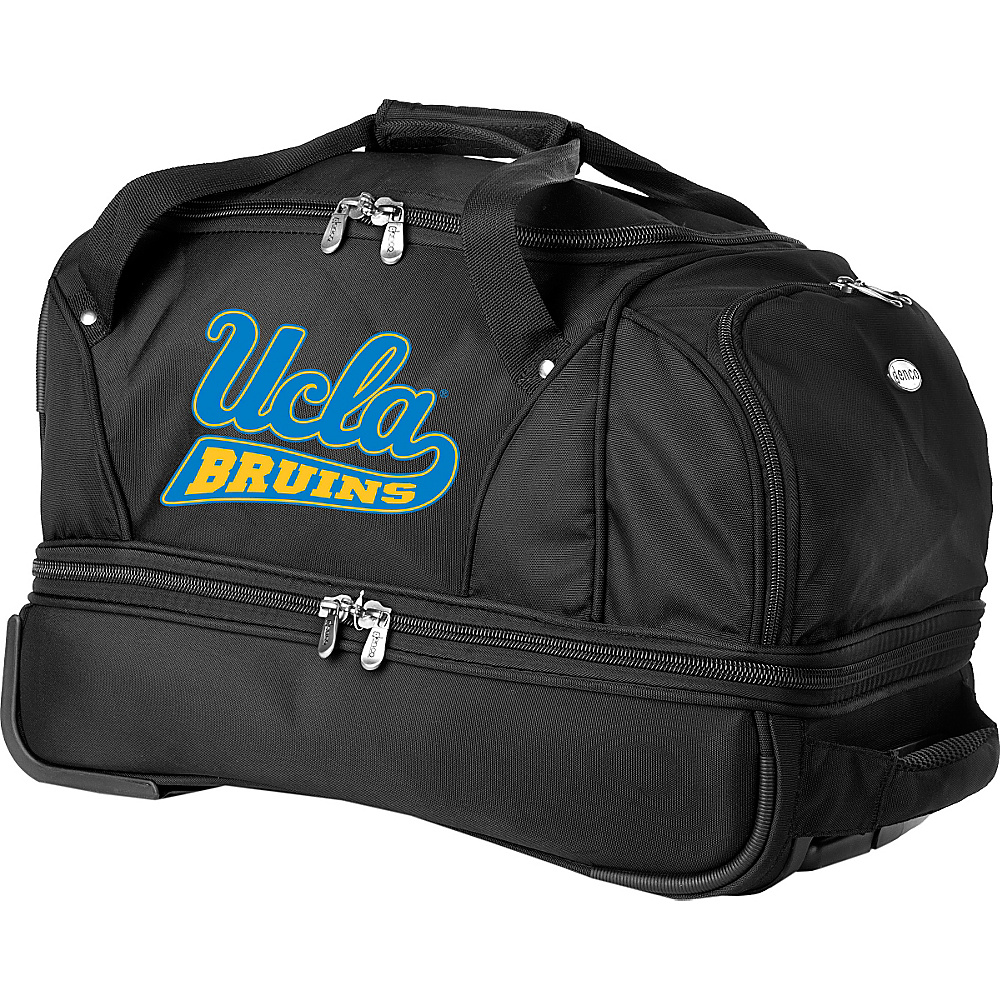 Denco Sports Luggage NCAA University of California (UCLA) Bruins 22 Drop Bottom Wheeled Duffel Bag Black - Denco Sports Luggage Travel Duffels - Luggage, Travel Duffels