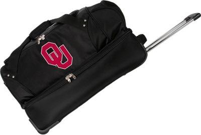 Denco Sports Luggage NCAA University of Oklahoma Sooners 27 inch Drop Bottom Wheeled Duffel Bag Black - Denco Sports Luggage Travel Duffels