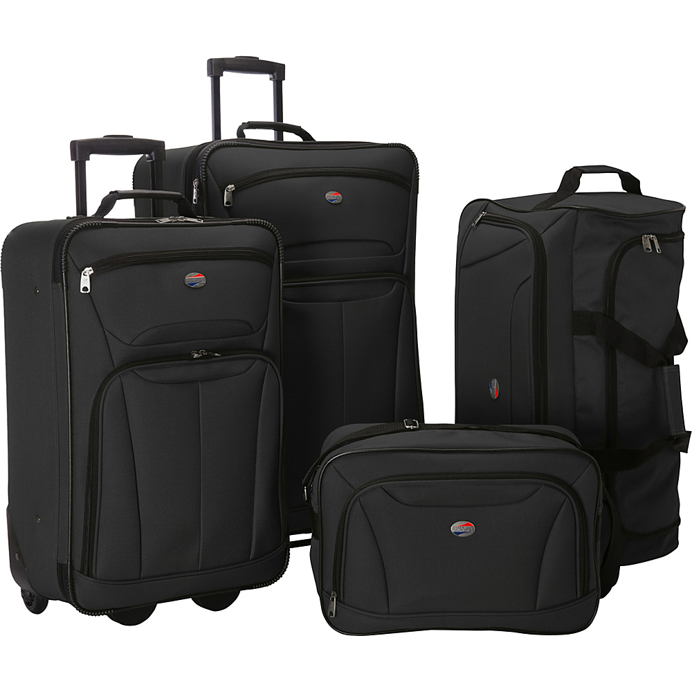 American Tourister Fieldbrook II 4 Pc Nested Luggage Set Black American Tourister Luggage Sets