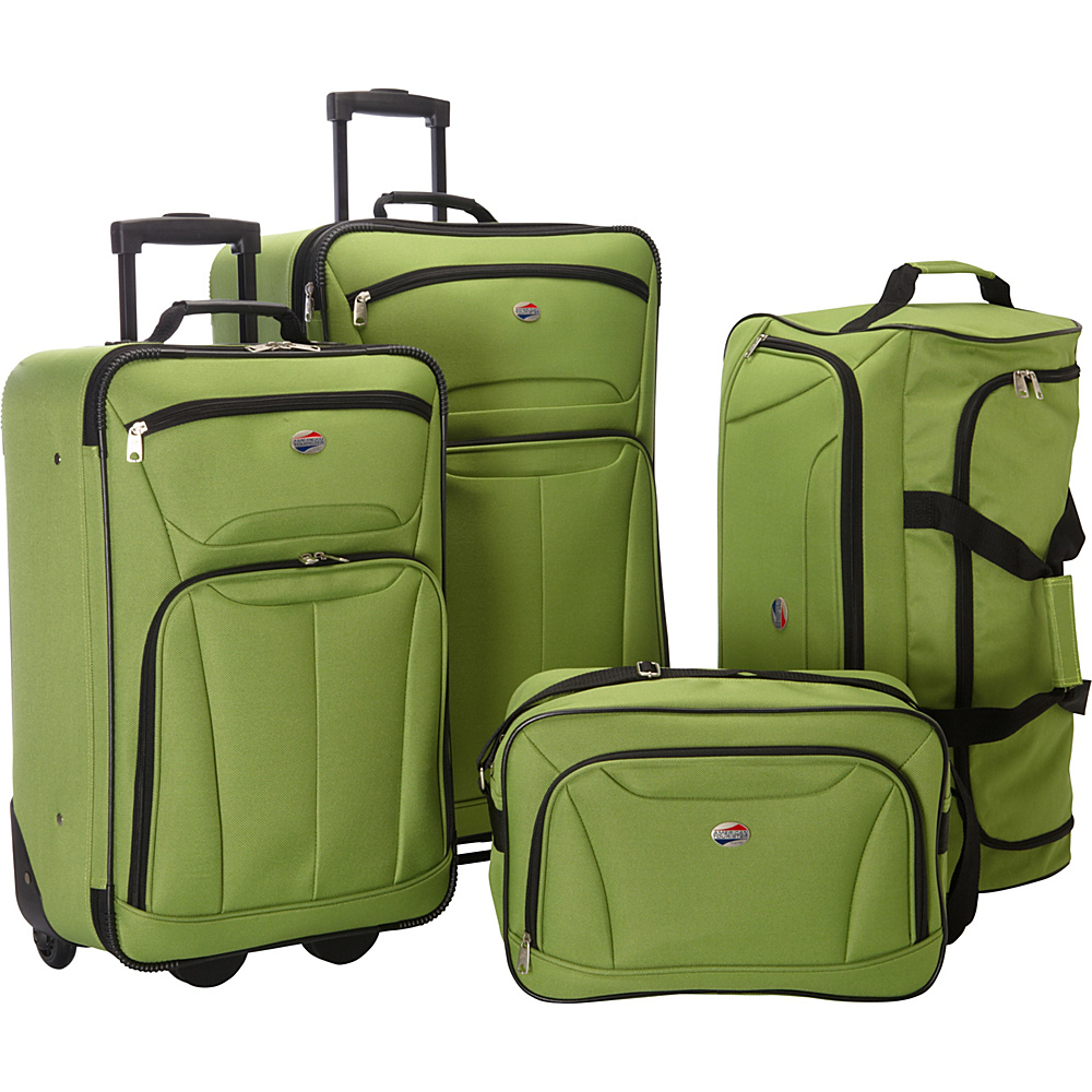 american tourister fieldbrook ii 4 pc nested luggage luggage set new ebay. Black Bedroom Furniture Sets. Home Design Ideas