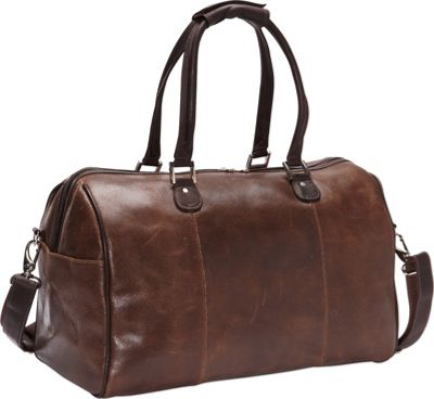 Piel Vintage Leather Carry-On Satchel Vintage Brown - Piel Luggage Totes and Satchels