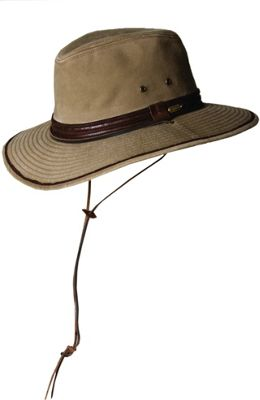 Stetson Washed Twill Safari L - Bronze-Large - Stetson Hats/Gloves/Scarves