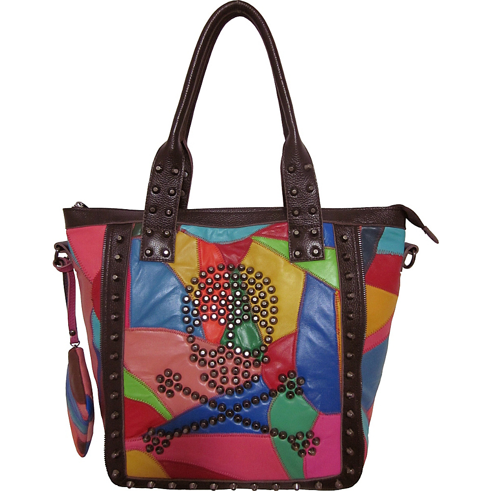 AmeriLeather QMetal Crossbones Rainbow - AmeriLeather Leather Handbags - Handbags, Leather Handbags