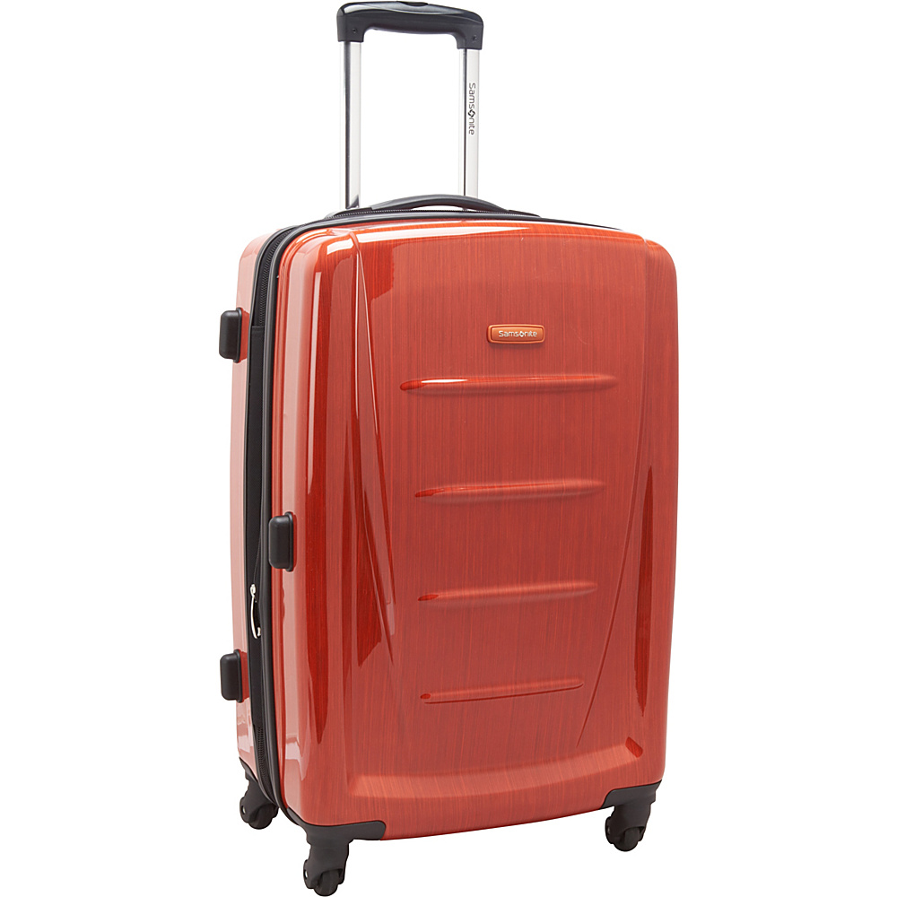 "Samsonite Winfield 2 Fashion Hardside Spinner Luggage - 24"" Orange - Samsonite Hardside Checked"