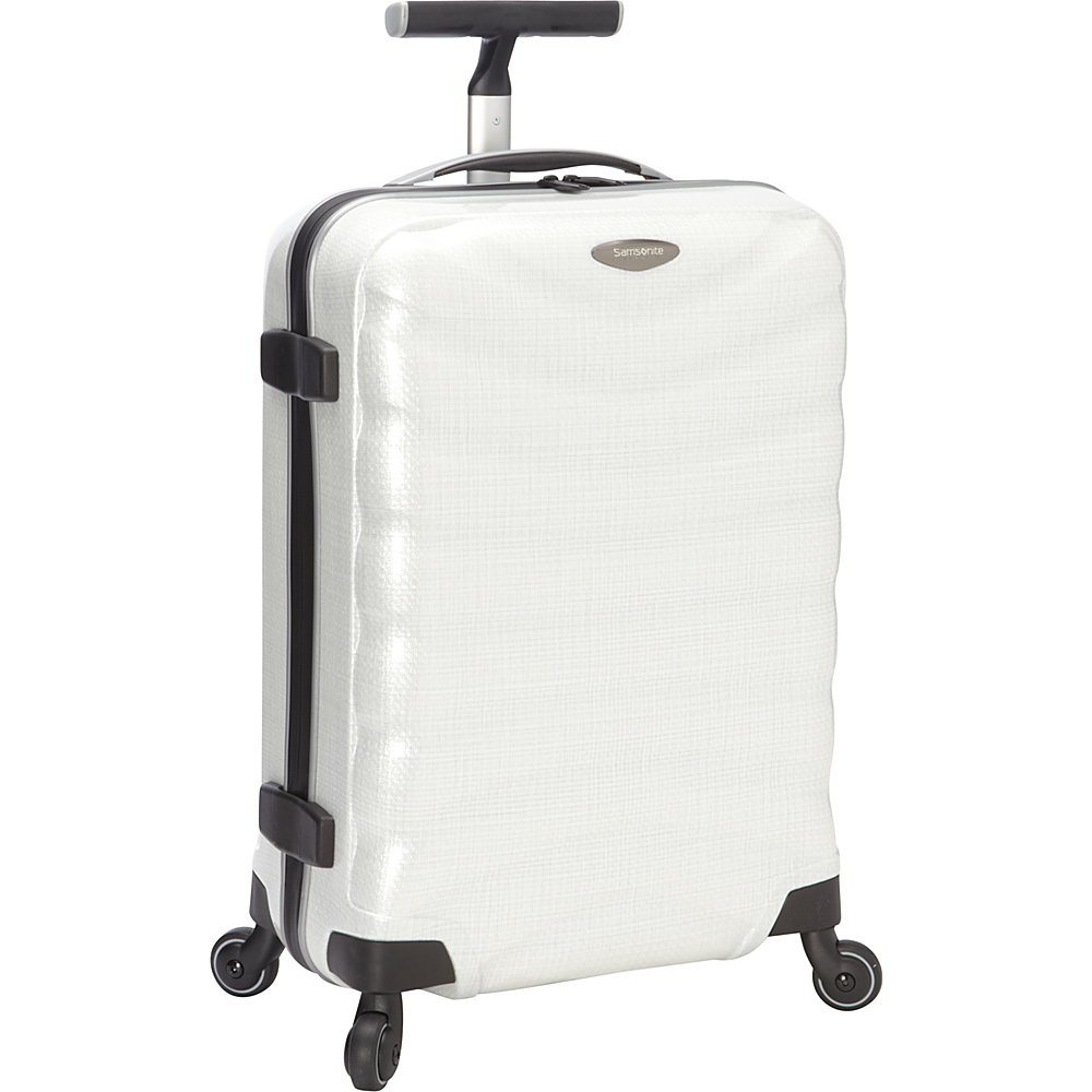 "Samsonite Black Label Firelite 20"" Carry-On Hardside Spinner Luggage Off White - Samsonite Black Label Hardside Luggage"