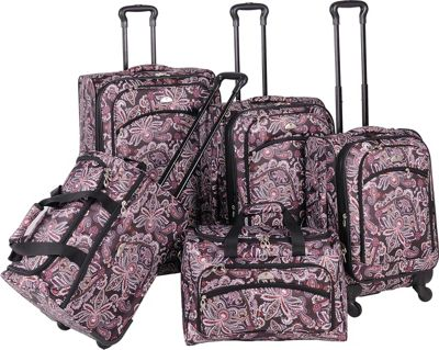 American Flyer Paisely 5 Piece Luggage Set Spinner | eBay