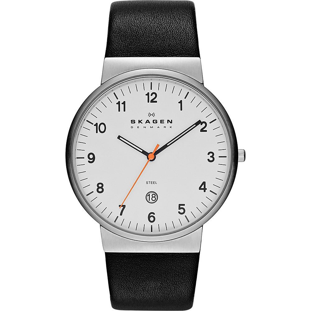 Skagen Klassik Black with White Skagen Watches