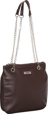 Image of Baggs Carey Shoulder Bag Brown - Baggs Leather Handbags