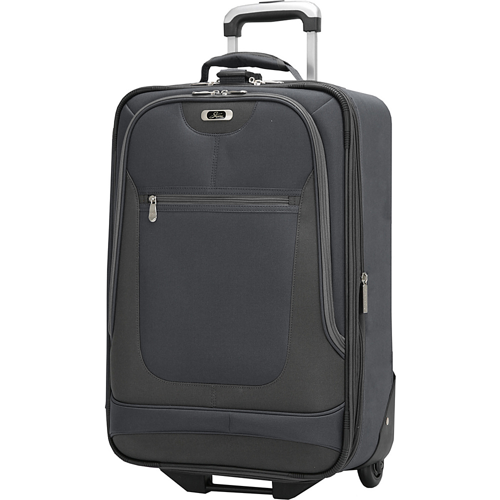 Skyway Epic 21 Inch 2 wheel Expandable Carry on Black Skyway Softside Carry On