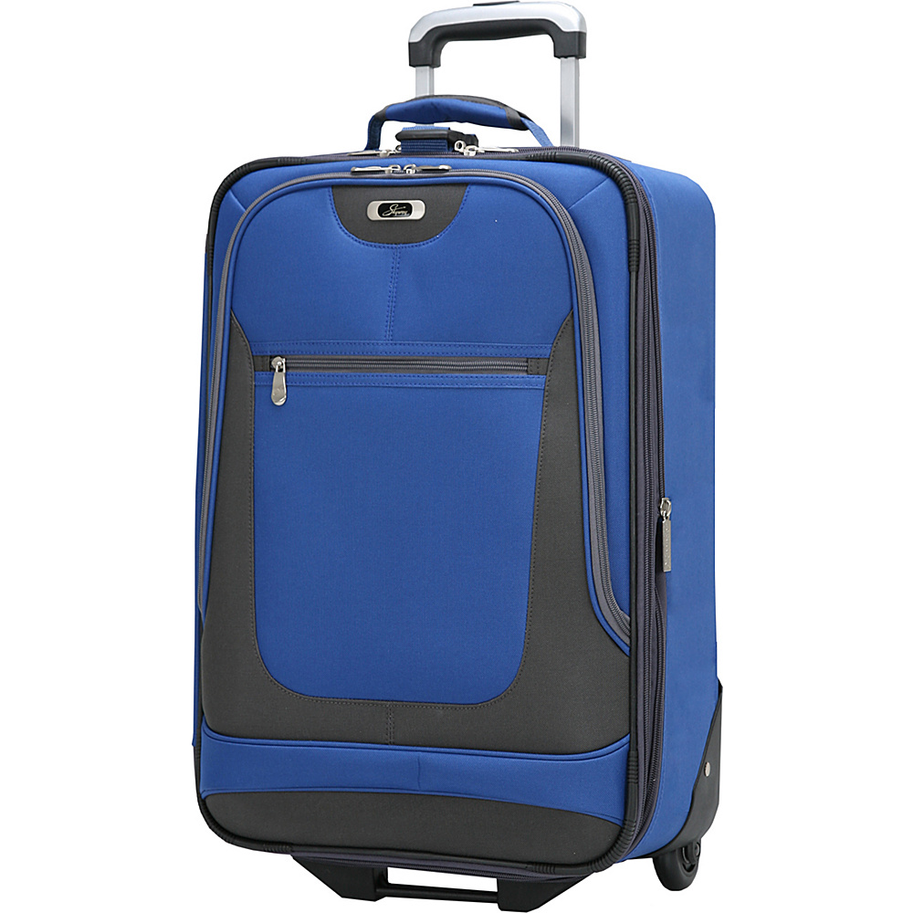 Skyway Epic 21 Inch 2 wheel Expandable Carry on Surf Blue Skyway Softside Carry On