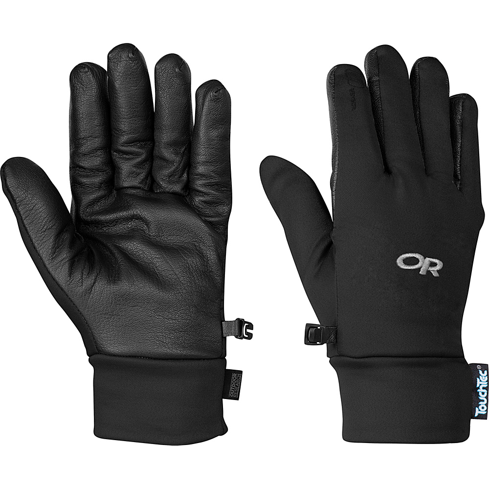 Outdoor Research Sensor Gloves Mens L - Black - Outdoor Research Hats/Gloves/Scarves - Fashion Accessories, Hats/Gloves/Scarves