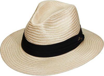 Tommy Bahama Headwear Buntal Safari W/Ribbon Natural-Small - Tommy Bahama Headwear Hats/Gloves/Scarves