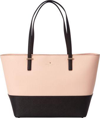 kate spade new york Cedar Street Small Harmony Tote Soft Rosette/Black - kate spade new york Designer Handbags