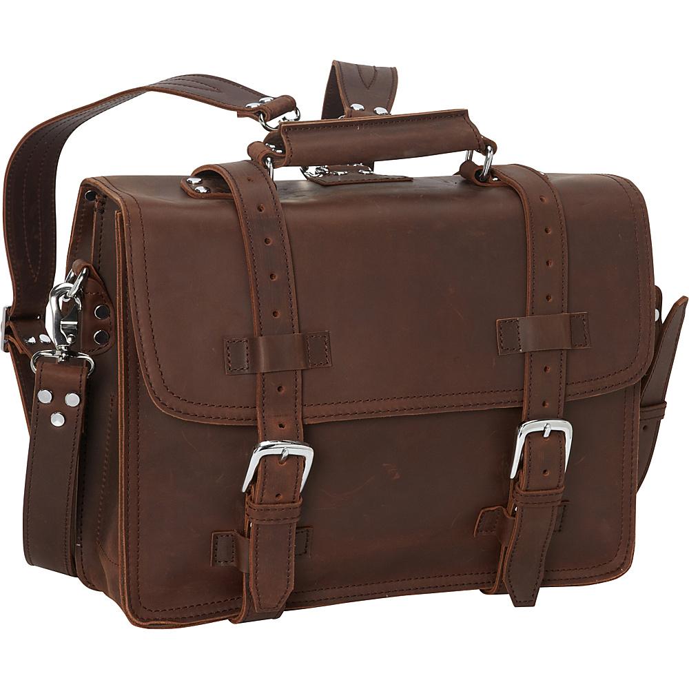 "Vagabond Traveler 16"" Heavy Duty Sport Briefcase & Book Backpack Reddish Brown - Vagabond Traveler Non-Wheeled Business Cases"