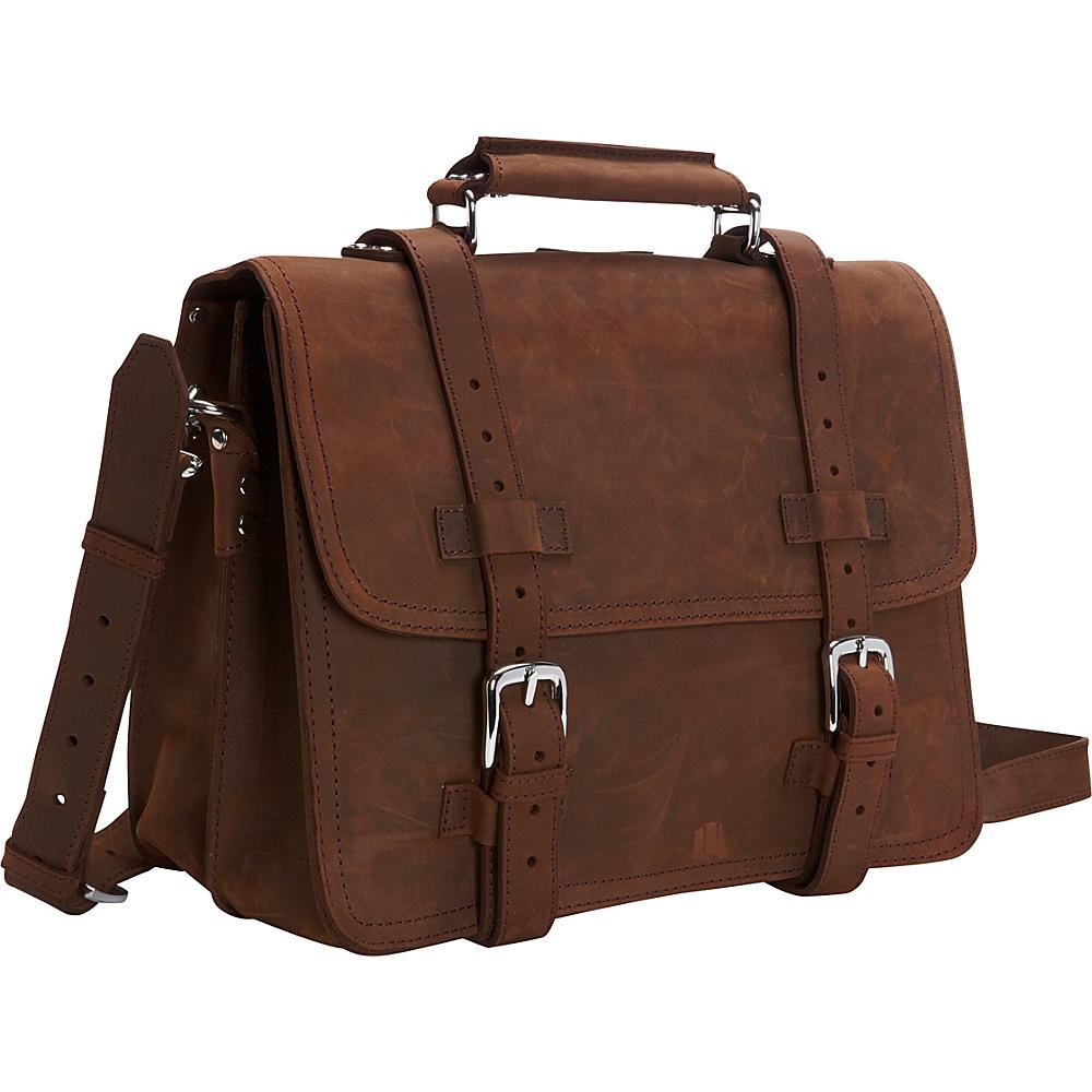 "Vagabond Traveler 16"" Heavy Duty Sport Briefcase & Book Backpack Distress - Vagabond Traveler Non-Wheeled Business Cases"