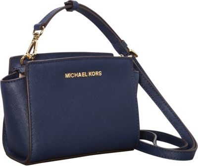 MICHAEL Michael Kors Selma Mini Messenger Crossbody Bag Navy - MICHAEL Michael Kors Designer Handbags