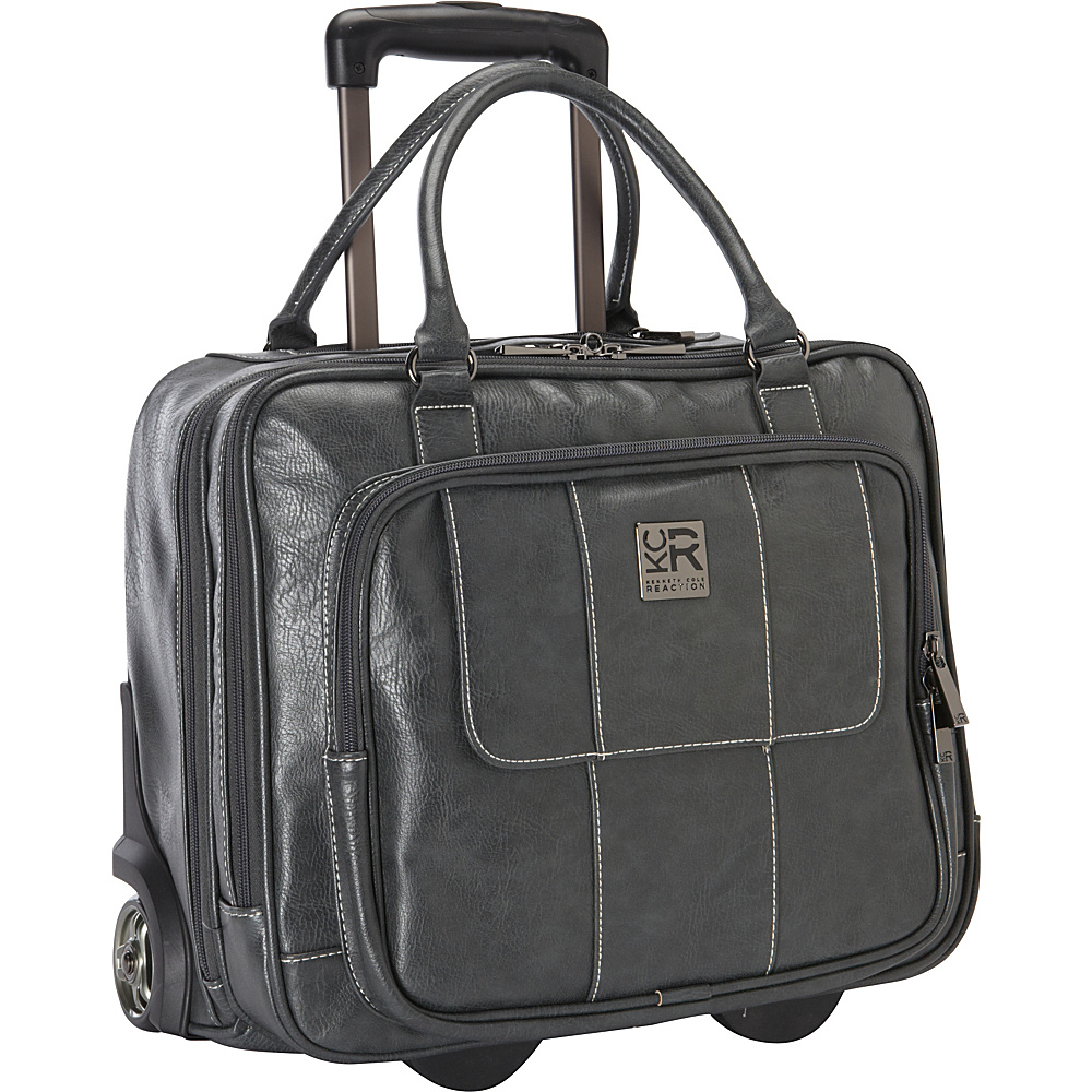 Kenneth Cole Reaction It's Wheel-y Late Rolling Laptop Case Bag Grey - Kenneth Cole Reaction Wheeled Business Cases