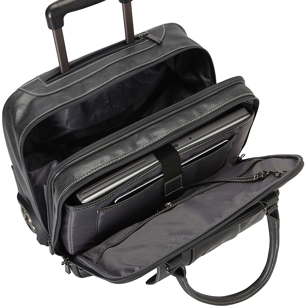 Kenneth Cole Reaction It's Wheel-y Late Rolling Laptop Case Bag Black - Kenneth Cole Reaction Wheeled Business Cases