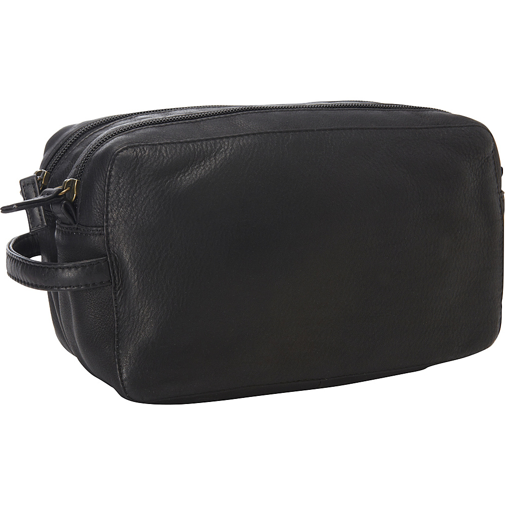 Derek Alexander Two Top Zip Travel Kit Black - Derek Alexander Toiletry Kits - Travel Accessories, Toiletry Kits