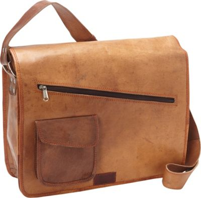 Sharo Leather Bags Sharo Leather Bags Computer Messenger Bag Brown - Sharo Leather Bags Messenger Bags