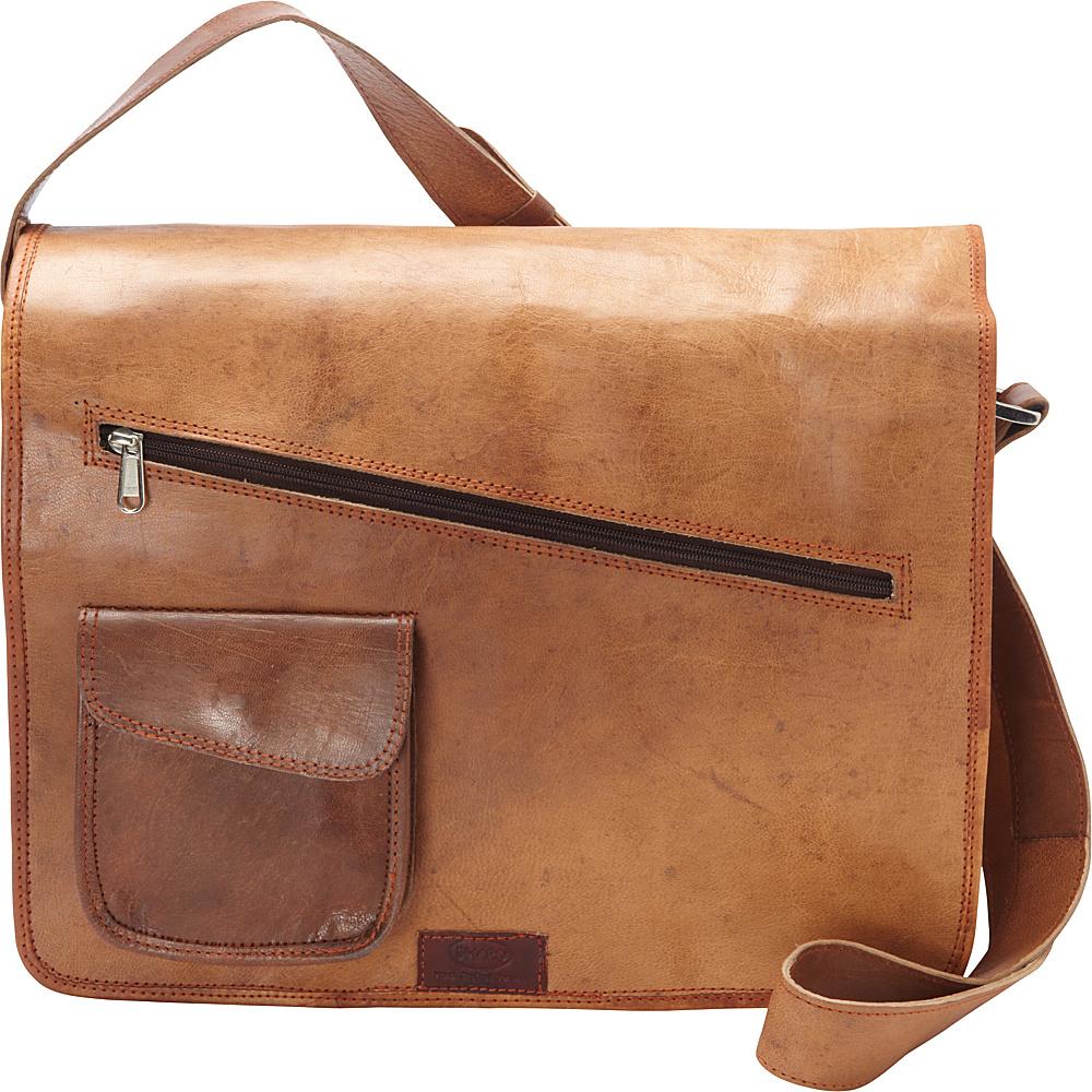 Sharo Leather Bags Computer Messenger Bag Brown - Sharo Leather Bags Messenger Bags