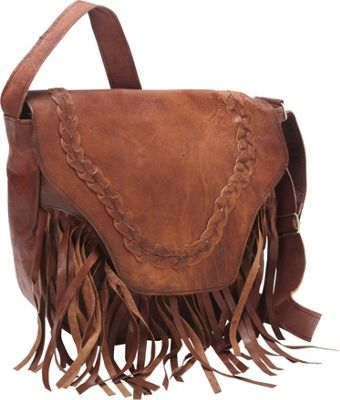 Sharo Leather Bags Leather Fringed Western Cross Body Bag - eBags.com
