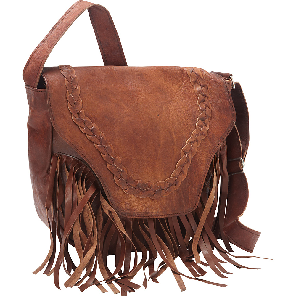 Sharo Leather Bags Leather Fringed Western Cross Body Bag Dark Brown Sharo Leather Bags Leather Handbags