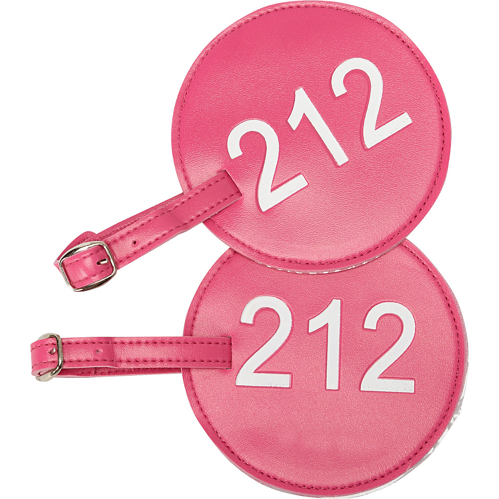 pb travel Number Luggage Tag 212 Set of 2 Fuchsia pb travel Luggage Accessories